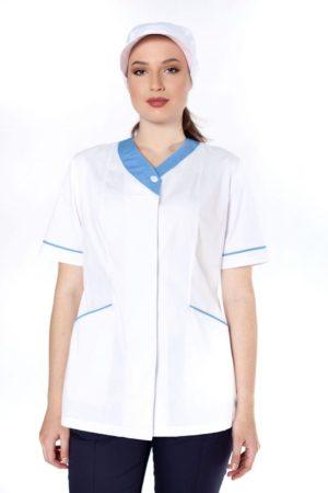 Блуза горничной (с голубой отделкой)