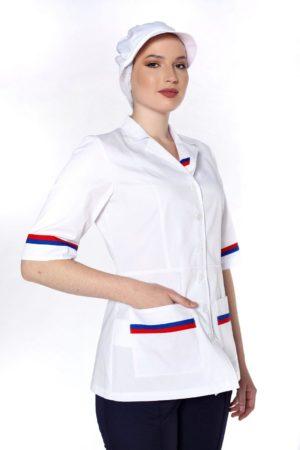 Блуза горничной (с отделкой из двух цветов)
