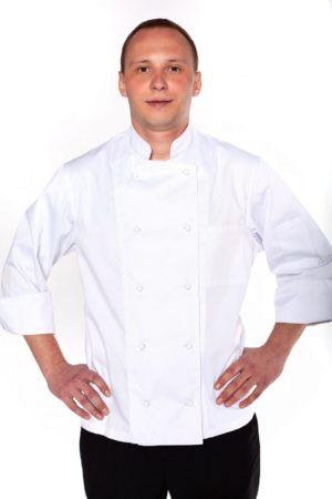 Китель повара, мужской с рукавом 3/4 на манжете