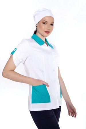 Блуза горничной (с отделкой из бирюзы)