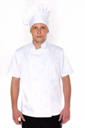 Китель повара, мужской с коротким рукавом