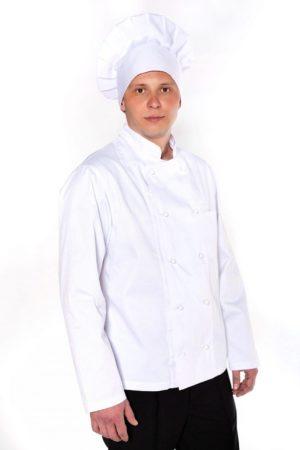 Китель повара, мужской с длинным рукавом