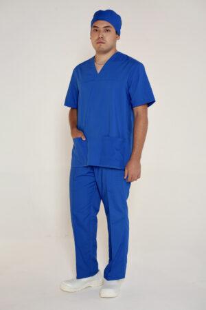 Костюм хирургический, мужской (колпак, рубашка, брюки)